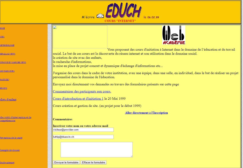 Educh.ch 20 ans d'histoires et 18  ans de formations